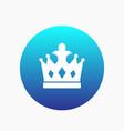 crown icon monarch sign vector image vector image