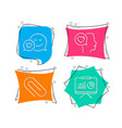 dating paper clip and romantic talk icons vector image