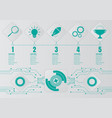 digital technology and infographic for business vector image
