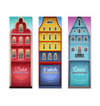dutch houses travel vertical banners vector image vector image