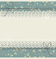 elegant lace frame with spring flowers vector image vector image