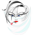 face of the women vector image
