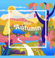 fall season autumn sale cover fantasy landscape vector image vector image