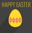 Flat easter egg with yellow wishes vector image vector image