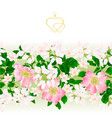 floral border seamless background eglantine twigs vector image vector image