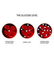 glucose in the blood vessel vector image vector image