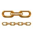 golden chain vector image vector image