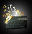 golden display box vector image vector image