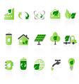 green icon sets big vector image vector image