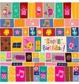 Happy Birthday pattern 2 vector image vector image