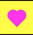 heart on the yellow background vector image vector image