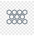 honeycomb concept linear icon isolated on vector image