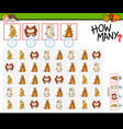 how many dogs counting game vector image vector image