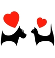 icon with dog and cat lover vector image