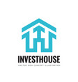 invest house - business logo template vector image