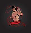 kung fu man version 3 vector image