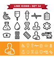 Line icons set 34 vector image vector image