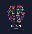 logo colored silhouette brain vector image vector image