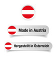 made in austria label sign vector image