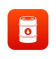 metal oil barrel icon digital red vector image vector image