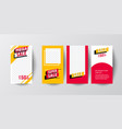 mobile sale banners template set vector image vector image