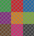 multicolor fabric pattern geometric background vector image vector image