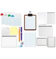 office paper sheet set vector image vector image