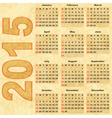 Old paper with Calendar 2015 vector image vector image