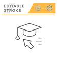 online education editable stroke line icon vector image vector image