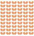orange autumn leaves seamless pattern vector image vector image