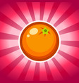 orange icon design vector image vector image