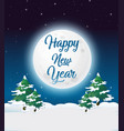 outdoor new year card template vector image
