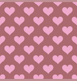 pink hearts seamless background pattern vector image vector image