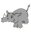 rhino on white background vector image vector image