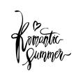 Romantic Summer card vector image vector image