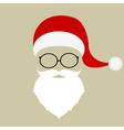 Santa hat mustache beard and glasses vector image vector image
