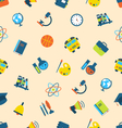 Seamless Pattern with Icons of Education Subjects vector image vector image