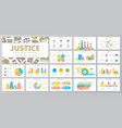 set crime law police and justice elements vector image vector image