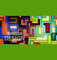 set of abstract geometric seamless color vector image vector image