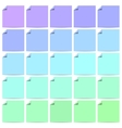 Set of color labels with folded corner vector image vector image