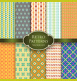 set of various retro colorful seamless patterns vector image vector image