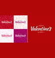 set valentines day card backgrounds vector image vector image