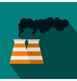 Smoking pipe icon in flat style vector image