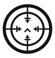 sniper gun aim icon simple style vector image vector image