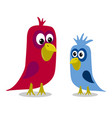 stock two cartoon birds vector image vector image