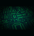 stylized mainboard closeup vector image vector image