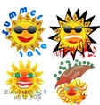summer sale sun vector image vector image