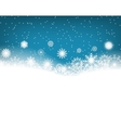 Winter blue background with snowflakes Christmas vector image