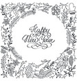 winter festive floral template vector image vector image