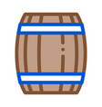 wooden barrel icon outline vector image